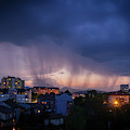 Stormy Weather Over The Small Town by Dejan Jekic