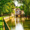 Strasbourg, Water Canal In Petite by Stevanzz
