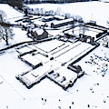 Strata Florida Abbey Ruins In The Snow by Keith Morris