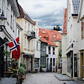 Street In Bergen, Norway by Whitney Leigh Carlson