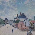 Street In Moret by Alfred Sisley