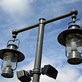 Street Lamps With Blue Sky by D Hackett