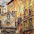 Streets Of Rome, Through Art And History - 01  by Andrea Mazzocchetti