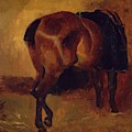 Study For Bay Horse Seen From Behind by Gericault Theodore