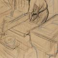 Study by Henri de Toulouse-Lautrec