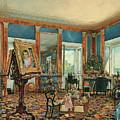 Study In Palais Rasumofsky On Landstrasse In Vienna        by Rudolf von Alt