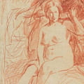 Study Of A Seated Nude by Edouard Manet