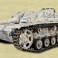 Sturmhaubitze 42 - Stuh 42 Canvas by Weston Westmoreland