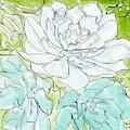 Succulent Love II by Monica Martin