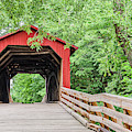 Sugar Creek Covered Bridge by Sue Smith