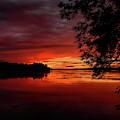 Summer Sundown Over Lake Wausau by Dale Kauzlaric