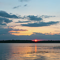Sun Setting Over The Wando River In Charleston County by Dale Powell
