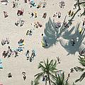 Sunbathers On Waikiki Beach, Oahu, Hi by Gary Hofheimer