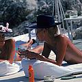 Sunbathing In Antibes by Slim Aarons
