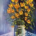 Sunday Floral Painting                39 by Cheryl Nancy Ann Gordon