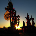 Sundown At Socaire Cemetery Chile by James Brunker