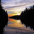 Sundown On The River by Debbie Oppermann