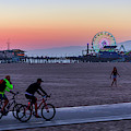 Sundown Ride To The Pier by Gene Parks