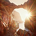 Sunflare Through Arch Of Keyhole by Zeb Andrews
