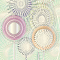 Sunflower Garden Mint Pearl by Cecely Bloom