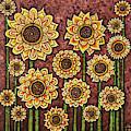 Sunflower Tapestry by Amy E Fraser