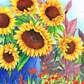 Sunflowers Galore by Val Stokes