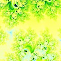 Sunny Spring Frost Fractal Abstract by Rose Santuci-Sofranko