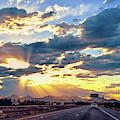Sunrays Over Tucson Freeway by Chance Kafka