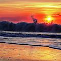 Sunrise At 142nd Street Beach Ocean City by Bill Swartwout Fine Art Photography