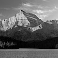 Sunrise At Glacier In Bw by Todd Klassy