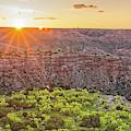 Sunrise At Palo Duro Canyon State Park - Amarillo Texas Panhandle by Silvio Ligutti