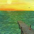 Sunrise At The Dock by Renee Ober