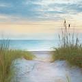Sunrise At The Dunes Watercolor Painting by Debra and Dave Vanderlaan