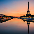 Sunrise At The Eiffel Tower, Paris by Mapics