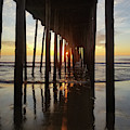 Sunrise At The Oc Fishing Pier by Robert Banach
