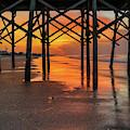 Sunrise On Folly Beach Pier by Dan Sproul