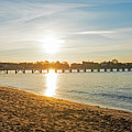 Sunrise Over Fisherman's Pier Swampscott Ma North Shore New England Fisherman's Beach by Toby McGuire