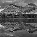 Sunrise Reflections At Wedge Pond Panorama Black And White by Adam Jewell