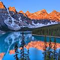 Sunrise Spectacular At Moraine Lake 2019 by Adam Jewell