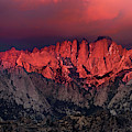 Sunrise Storm And Alpenglow Alabama Hills California by Dave Welling