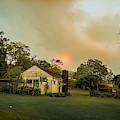 Sunrise Through The Haze by Max Huber