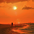 Sunrise Walk On Sanibel Island by Jeff Breiman
