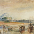 Sunset And Moonrise by Joseph Mallord William Turner