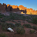 Sunset At Arches National Park, Southwest Art, Utah by TL Mair