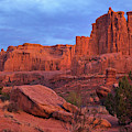 Sunset At Arches by Sharon Seaward
