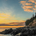 Sunset At Bass Harbor Lighthouse by Dan Sproul