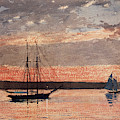 Sunset At Gloucester, 1880 by Winslow Homer