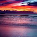 Sunset At Hanalei Bay by John Hight