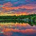 Sunset At Joshua Springs Lake by Lynn Bauer