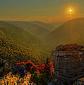 Sunset At Lindy Point Near Blackwater Falls Panorama by Dan Friend